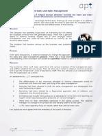Case Study Sales and Sales Management
