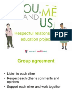 You, Me and Us powerpoint for 18 to 24 year olds with English as a second language