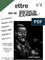 La Lettre de la FFJdR n.4 (nouvelle formule) - janvier 2001