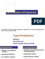 Identification of Explosives