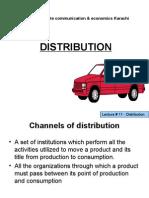 Lecture # 11 Distribution