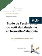 Etude de l'estimation du coût du tabagisme en Nouvellle-Calédonie