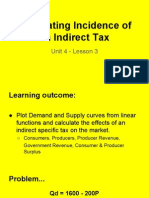 unit 4 - lesson 3 calculating incidence of taxation