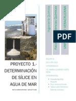 Proyecto#1 Determinación de Sílice en Agua de Mar