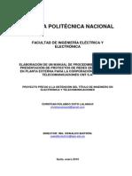 Elaboracion de Manual de Presentacion de Proyectos de Redes de F.O