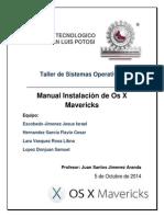 Taller de Sistemas Operativos Instalación de Mavericks