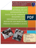 Habitos Alimentarios y Presion Arterial en Los Estudiantes de La Facultad de Farmacia y Bioquimica de La Universidad Nacional Mayor de San Marcos Del Periodo Academico 2014 II (1)