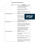 weeding and reordering guideline chart b