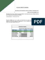 Acta de Cómputo General - Elección a La Fepuc Para El Periodo 2015
