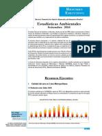 Estadisticas Ambientales Setiembre 2014