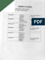 DU BSC(H) maths syllabus