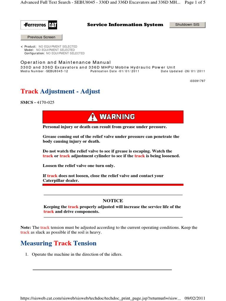 JBF_Track Adjustment - Adjust | Valve | Machines