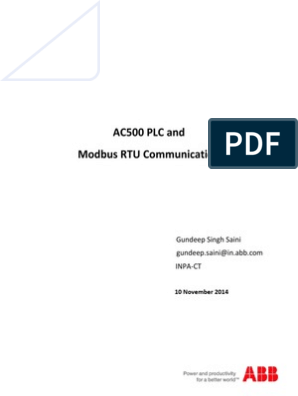 AC500 PLC and Modbus RTU Communication | Programmable Logic