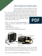 Cara Menyolder Komponen Elektronika