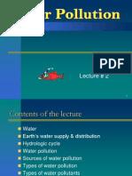 Lec#02 EnvE - Water Pollution