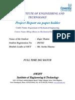 Rajat Report on Paper Holder