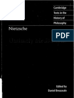Friedrich Nietzsche - Untimely Meditations (Cambridge Texts in the History of Philosophy 1997)