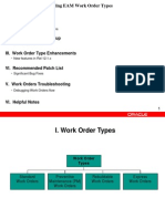 Understanding of Various EAM Work Order Types