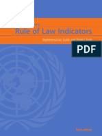 Un Rule of Law Indicators, United Nations, First Edition, 2011