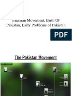 Lec 8,9 - Pakistan Movement, Birth of Pakistan and Initial Problems