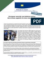 Civilian Aspects of Crisis Management