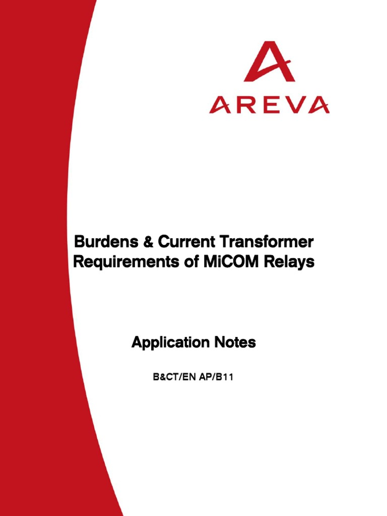 Current Transformer Application Guide Transformer Relay
