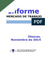 Informe del mercado de trabajo en Illescas  - Noviembre 2014