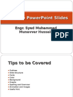 Tips for Power Point Presentations