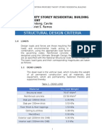 STRUCTURAL DESIGN CRITERIA