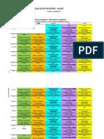 Orar an 1, Semestrul 1 2014-2015