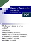 Basics of Construction Insurance