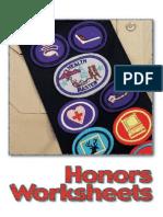 pathfinder-honor-worksheets