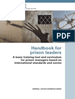 UNODC Handbook for Prison Leaders
