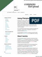 FileUpload - Using FileUpload using Servlet