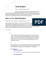 How to Use Metal Benders