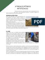 MATERIALES PETREOS ARTIFICIALES