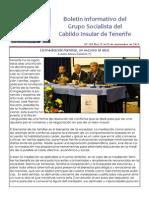 Boletín del Grupo Socialista del Cabildo de Tenerife 102. 17 - 23 de noviembre 2014