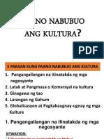 Paano Nabubuo Ang Kultura