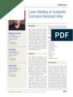 Laser Welding of Austenitic Corrosion Resistant Alloys