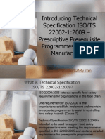 Introduction to Technical Specification ISO 22002
