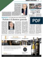 Giornata in ricordo di Bruno Gentili / Perfetto è il Direttore Generale - Il Resto del Carlino del 20 novembre 2014