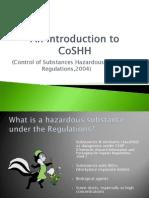 CoSHH Presentation