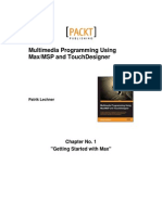 9781849699716_Multimedia_Programming_Using_Max/MSP_and_TouchDesigner_Sample_Chapter
