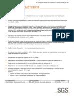 Metodologia de Avaliação Sgs