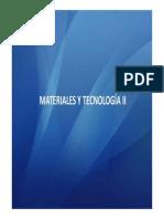 MyT Tema II - Materiales Pétreos Artificiales