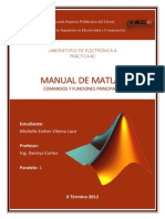 Manual de Matlab - Funciones principales