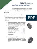 modeling revolve fillet and pattern