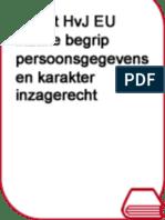 Arrest HvJ EU Inzake Begrip Persoonsgegevens en Karakter Inzagerecht (Jansen) P&I 2014-5