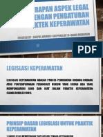 Penerapan Aspek Legal Dengan Pengaturan Praktek Keperawatan