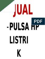 JUAL PLZ